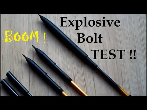 Explosive Crossbow Bolts - TEST !!
