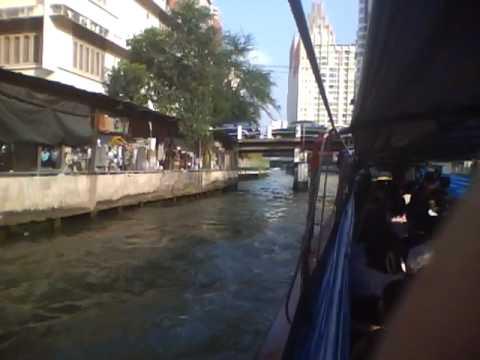 バンコク 運河 ボート Khlong Saen Saeb