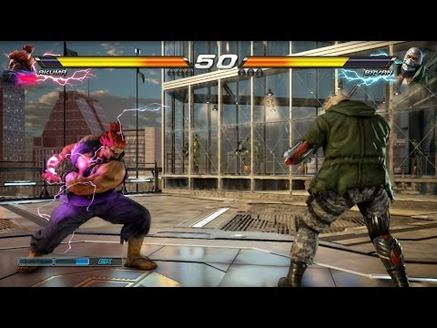 TEKKEN 7 (PS4) Bryan Vs Akuma Gameplay | G-CORP Helipad New Stage (1080p 60fps) No Commentary