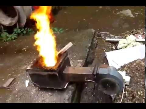 Горелка для сжигания опилок своими руками