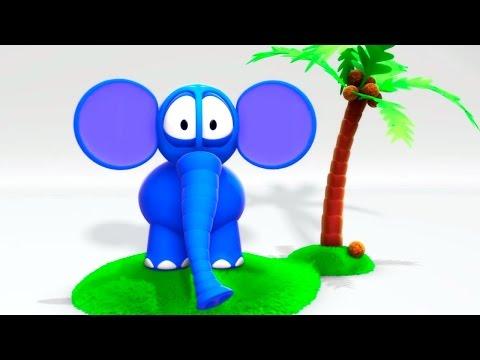 3D мультфильмы для самых маленьких: Соберем Слоненка. ЗимЗум