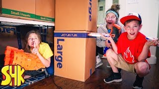 Fortnite Hide & Seek Nerf Battle Royale! | SuperHeroKids