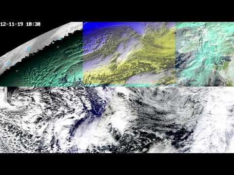 Modis-meteo satellite weather comparison for November and December 2012 in the Atlantic