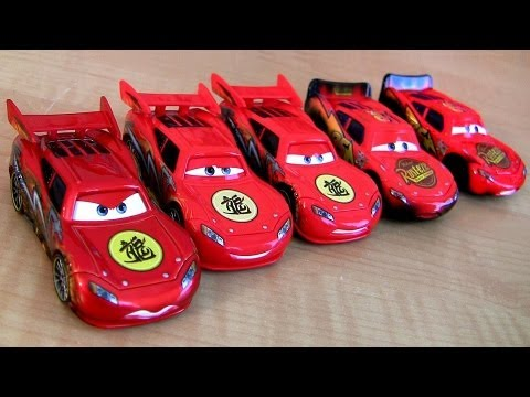 5 McQueen Cars Toon Dragon Lightning McQueen Oil Stains Metallic finish Disney Pixar Tokyo Mater