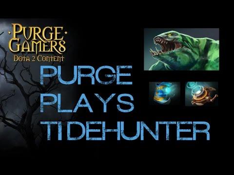Dota 2 Purge plays Tidehunter offlane