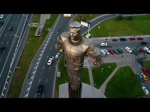 Площадь Гагарина на DJI Phantom 4 pro plus))