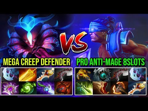 [Spectre] Vs [Anti-Mage] Super Mega Creeps Defender Vs 8Slots Carry LATE GAME BATTLE RAPIER DOTA 2