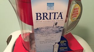 Brita 10 Cup Water Pitcher Filtration System, set up and demo