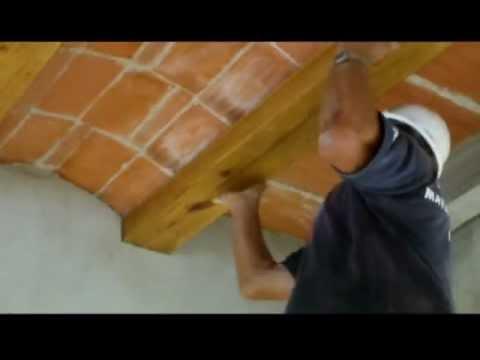 C mo forrar con madera vigas de hormig n video n 61 youtube - Como colocar adoquines de hormigon ...