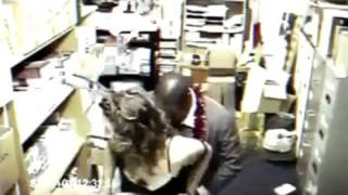 Sex at work. Hidden camera