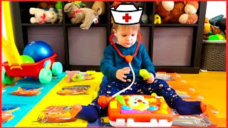 Leo Pretend Play Doctor and His New Fun Toys