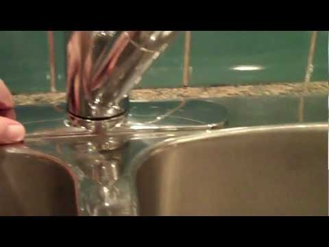 How to tighten a Moen Salora single handle kitchen faucet to sink