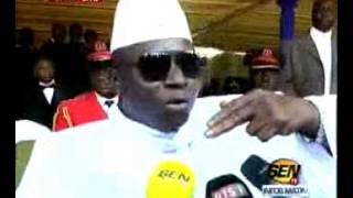 Yaya Jammeh ''Seule la paix peut régner entre la Gambie et le Sénégal''