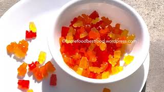 Gummy bear real fruit/Gummy bear recipe/#Kidssnack#Candy#Jelly#Sugarcandy