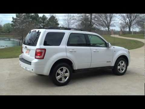 2008 Ford Escape Limited White For Sale See Www