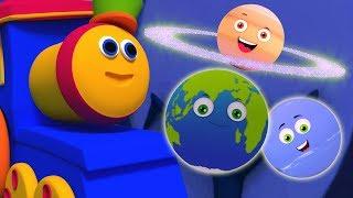 Hành tinh song | Hệ Mặt trời Song | vần trẻ em | Solar System Song | Nursery Rhyme | Bob Planet Ride