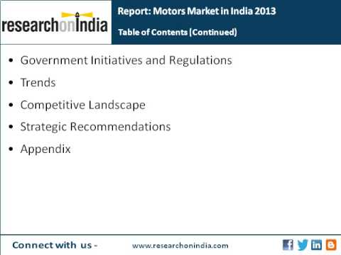 India Market Research Report : Motors market in india 2013