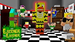 Minecraft: YOUTUBERS PEQUENOS NO FIVE NIGHTS AT FREDDYS!