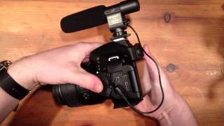 Shengu SG-108 Stereo Boom Mic on Nikon D5100