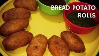Bread Potato Roll Recipe - Indian Vegetarian Snacks Appetizers (Recipe In Hindi) By Anita Ahuja