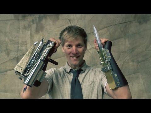 凶器の発明!?ゲーム武器の仕込み剣とロープランチャーを実際に作っちゃった人現る