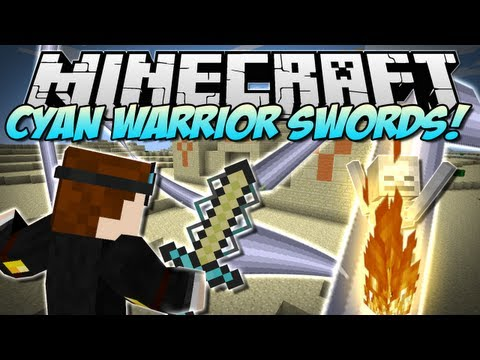 Minecraft   CYAN WARRIOR SWORDS! (Insane NEW Swords!)   Mod Showcase [1.5.2]
