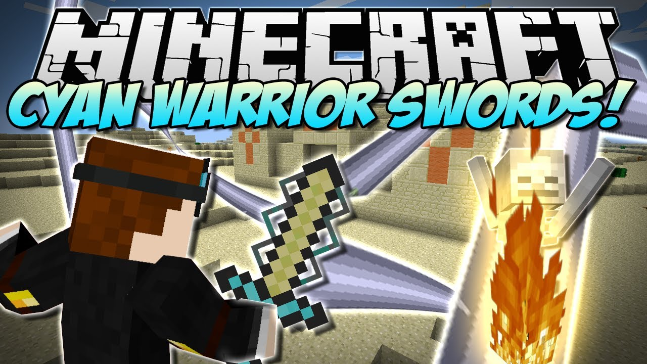 Minecraft CYAN WARRIOR SWORDS Insane NEW Swords