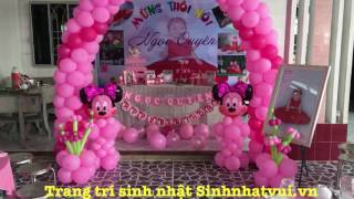 Hướng dẫn trang trí sinh nhật cho bé gái tại nhà