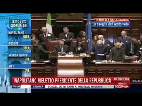 Elezione del Presidente della Repubblica 2013 - 2° Mandato di Giorgio Napolitano