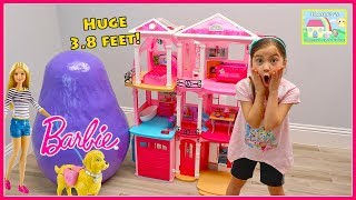 Biggest Barbie Egg Surprise Toys Opening & Play with Toy Dolls