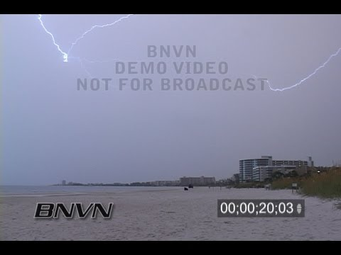 9/4/2006 Sarasota, FL Siesta Key Beach Lightning Video