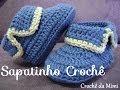 Sapatinho de Bebê em Croche - crochet baby bootie