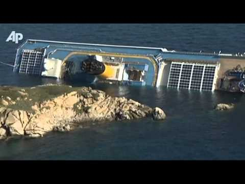 Cruise Ship Runs Aground Off Italy