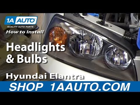 How To Install Replace Change Headlights and Bulbs 2001-06 Hyundai Elantra