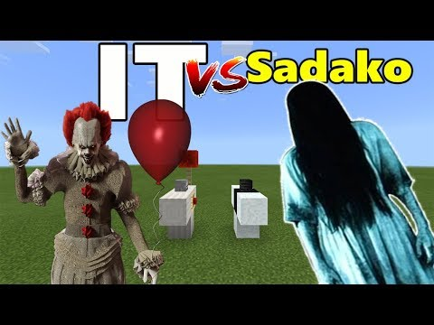 It Clown vs Sadako   Minecraft PE