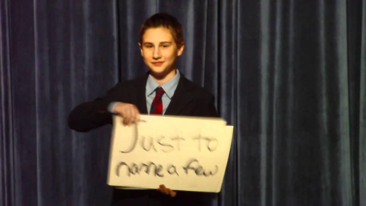 Zach Oschin Best Middle School Election Speech Ever 01-21 ...