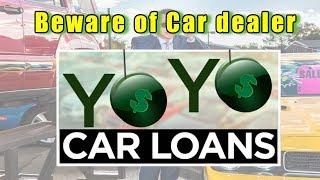 Car salesman warns you of car dealership finance scam.