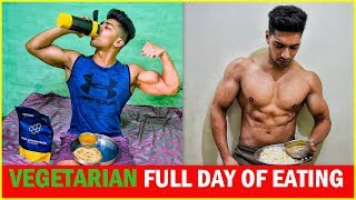 Vegetarian Full Day of Eating | Indian Bodybuilding Diet Plan | Rohit Khatri Fitness
