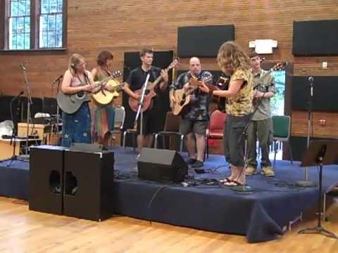 Swannanoa Gathering 2010 - Guitar Week - Vicki Genfan 3D Guitar Percussive Techniques