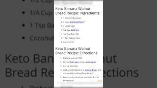 Keto Banana Walnut Bread