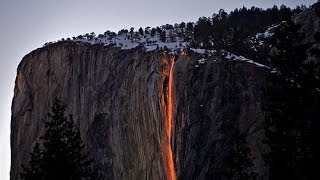 The Wonders Of Nature / Fire Falls / Yosemite National Park / USA