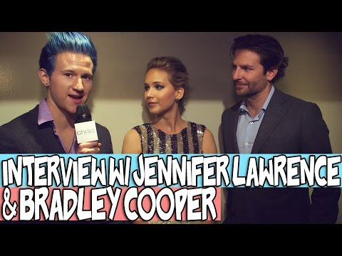 MY INTERVIEW W/ JENNIFER LAWRENCE & BRADLEY COOPER