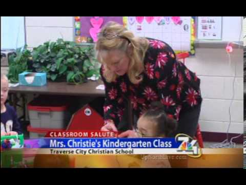 Classroom Salute Visits Mrs. Christie's Kindergarten At Traverse City Christian School