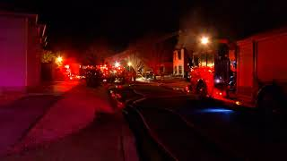 Lafayette firefighters work overnight house fire