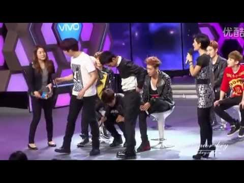 RyeoWook carrying the MC &amp; doing squats-130326