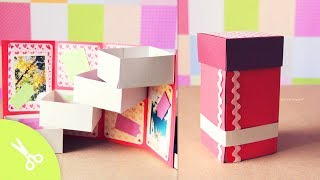Caja Con Cajones: Guarda Regalo - Dia De Los Enamorados // Origami Box Tower