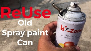 How to refill spray paint can