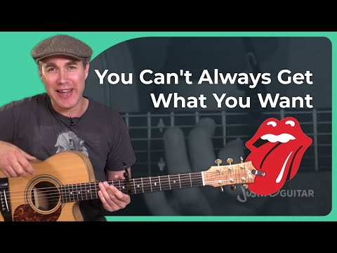 How to play You Cant Always Get What You Want  The Rolling Stones  Open E Tuning Guitar Lesson