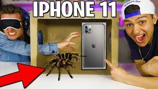 WHAT'S IN THE BOX!? (IPHONE 11 PRO OR GIANT SPIDER) - CHALLENGE! Slime UNBOXING!