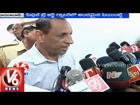 Governor Narasimhan inaugurated People Tree Art Gallery expo - Hyderabad